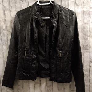 Max Jeans Faux Leather Jacket